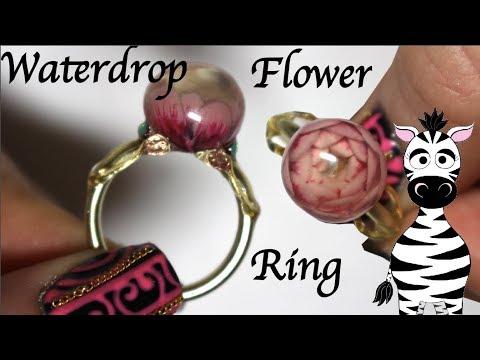 Gel nails - Waterdrop Flower Ring Gel Nail Art Tutorial  LagunaMoon