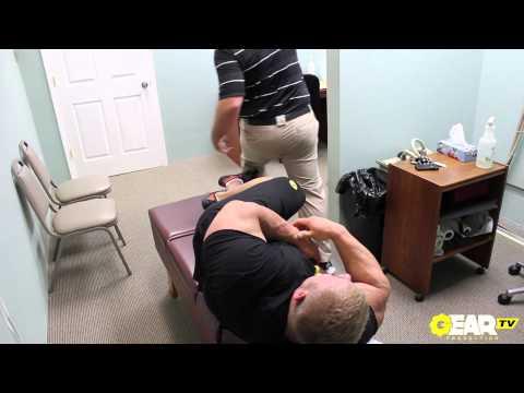 Bodybuilder Justin Compton Chiropractor Visit and Adjustment