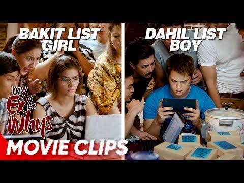 Ang mainit na sagutan nina 'Bakit List Girl' and 'Dahil List' Boy! | 'My Ex and Whys' | Movie Clips