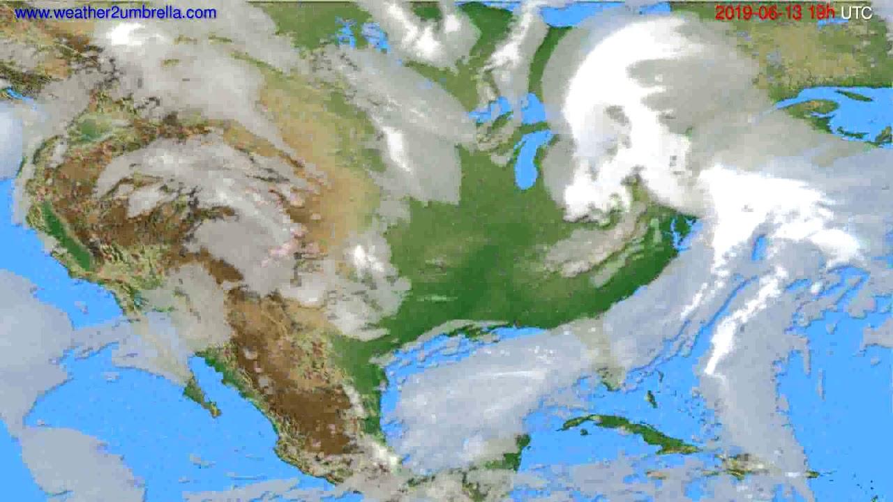 Cloud forecast USA & Canada // modelrun: 12h UTC 2019-06-10