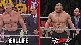 The entrances comparison of WWE 2K17 vs Real Life featuring John Cena, Seth Rollins, Roman Reigns, Finn Balor & Brock Lesnar. Subscribe to Bestintheworld ht...