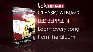 """See more at: http://bit.ly/2tqPJkmReleased on 22 October 1969, Led Zeppelin II is one of one of the greatest and most influential rock albums of all time. With sales passing 12 million copies, Led Zeppelin II is a showcase of the band's evolving musical style, fusing blues-derived material with the now classic hard rock guitar riffs to create Led Zeppelin's heaviest album.Learn to play the following:• Whole Lotta Love• What Is and What Should Never Be• The Lemon Song• Thank You• Heartbreaker• Living Loving Maid (She's Just a Woman)• Ramble On• Moby Dick• Bring It On HomeIn this course, LickLibrary veteran, Danny Gill walks you through the many highlights of each song from the rock giants one phrase at a time, including Jimmy Page's legendary guitar riffs from the track; """"Whole Lotta Love"""" and """"Heartbreaker"""", to the iconic solo sections throughout. - See more at: http://bit.ly/2tqPJkm"""