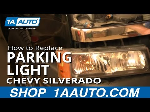 How to Install Replace Front Signal Marker Running Light Chevy Silverado 02-07 1AAuto.com