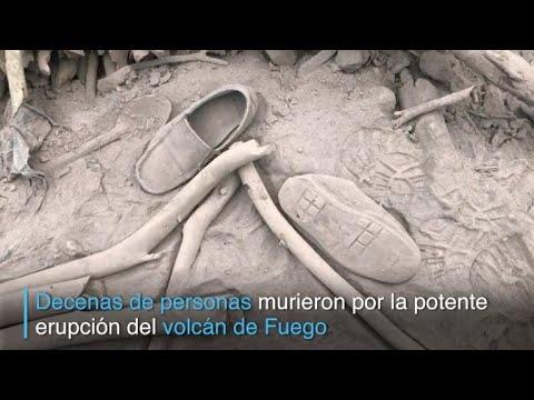 Decenas de muertos tras potente erupción en Guatemala