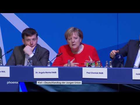 Fragen nach der Rede von CDU-Chefin Angela Merkel bei ...