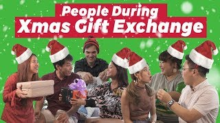 Video People During Christmas Gift Exchange MP3, 3GP, MP4, WEBM, AVI, FLV Februari 2019