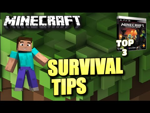 MINECRAFT – TOP 3 SURVIVAL TIPS – PS3 ( PC / XBOX / PE / PS4 ) TU16 – TU17