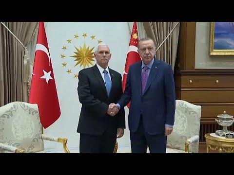 Σε ψυχρό κλίμα η συνάντηση Ερντογάν – Πενς στην Αγκυρα