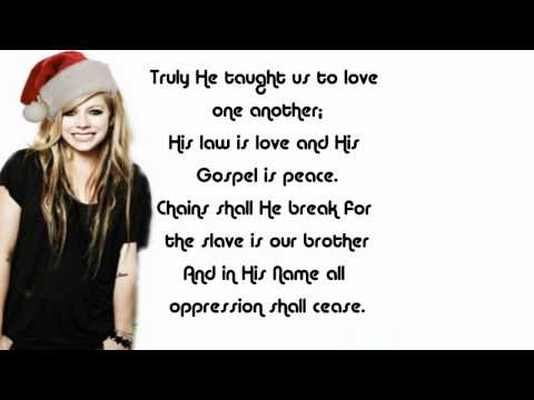 Avril Lavigne - O Holy Night lyrics