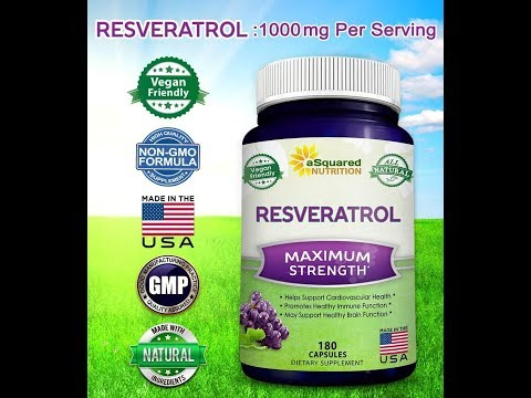 Natural Trans-Resveratrol Pills for Heart Health & Weight Loss - Trans Resveratrol for Anti-Aging.
