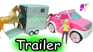 It's time for a mountain trail ride so lets get the Chica Linda, Boomerang (horses from the Netflix movie series Spirit Riding Free) loaded into the horse trailer. This Lori doll pink truck and horse trailer is perfect for trail rides. Comes with English saddle and bridle and some grooming supplies. Enjoy this fun review video mini fans!Don't miss any videos!!!! Subscribe here for FREE: http://www.youtube.com/subscription_center?add_user=honeyhearts27---------- Watch More HoneyheartsC Videos ----------♥ Giant Haul Spirit Riding Free Breyer Horses - Traditional , Brushable + Action Figure Riders https://youtu.be/bTE-YZpsTtU♥ DIY Spirit Riding Free Stablemates Stallion + Barn Painting Craft Set - Do It Yourself Video https://youtu.be/AeX9W0sidhU♥ Spirit Stallion of the Cimarron Playmobil Series - Horse Toy Video Honeyheartsc https://youtu.be/mKYwcx3d8fw♥ Lori Equestrian Rider Dolls + 2 Brushable American Quarter Horses - Honeyheartsc Video https://youtu.be/H9BS3wqAKUc ~~Welcome to my horse channel! I'm crazy about horses so you will find super fun family friendly videos all about horses!  You will find videos about playset toy reviews, openings, movie series, do it yourself (diy) projects, and so much other awesome things on Breyer traditional, classics, stablemates,  Schleich, Safari, and other model horses.www.honeyheartsc.comFriend me on Instagram: @Honeyheartsc  http://websta.me/n/honeyheartsc♥♥------- Thank you for watching! See you in my next video!-