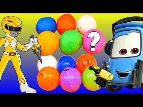 Play Doh Toy Surprise Squinkies Power Rangers Disney Pixar Cars Toys Simpsons and More!
