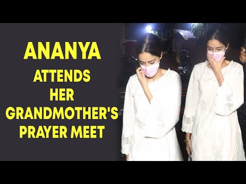Ananya Panday attends grandmothers prayer meet with her parents