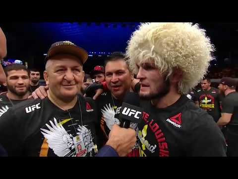 UFC 242 Khabib Nurmagomedov and Dustin Poirier Octagon Interviews