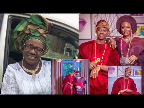Yoruba Actress Mama Rainbow Finally Comment On Lateef Adedimeji & Bimpe Oyebade Traditional Wedding