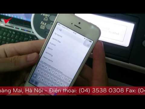 Video hướng dẫn In từ Smart Phone hệ điều hành [ IOS ] của Máy In Oki mb472dnw