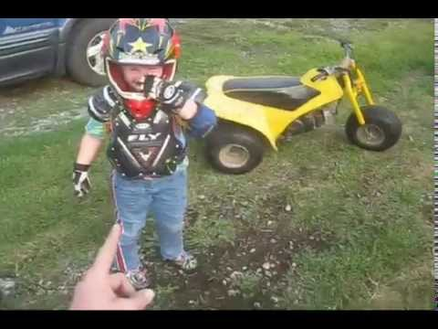 Kids dirt bike tag