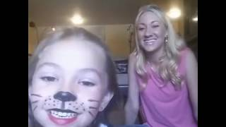 Kids simple, easy, SMUDGEPROOF Halloween KITTY CAT makeup using only LipSense