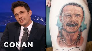 Video James Franco Is Freaked Out By Fan Tattoos MP3, 3GP, MP4, WEBM, AVI, FLV September 2018