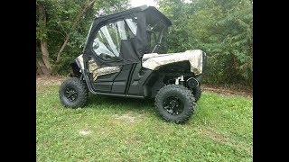 6. 2019 Yamaha Wolverine X2 Full Cab Enclosure installation from Side X Side Enclosures