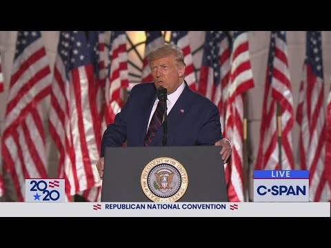 President Donald Trump Full Acceptance Speech at 2020 Republican National Convention