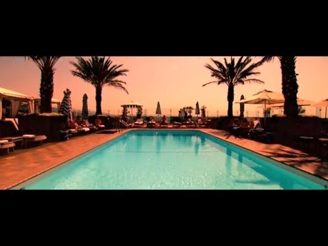 LONDON WEST HOLLYWOOD HOTEL, ROOFTOP POOL - VIDEO PRODUCTION LUXURY TRAVEL RESORT FILM
