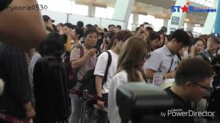 170619 Yoona cut- Airport to Jeju Island for SM Workshop