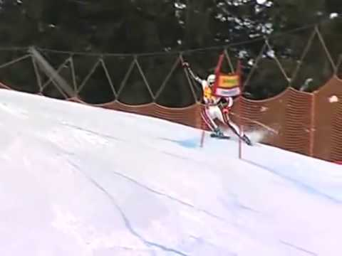 Skier takes one to the groin, TV announcer rises to the occasion