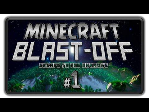 Minecraft BLAST OFF Lets Play - BashREO #1