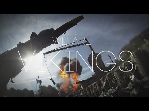 First-person footage from a viking stunt show looks like a real life video game