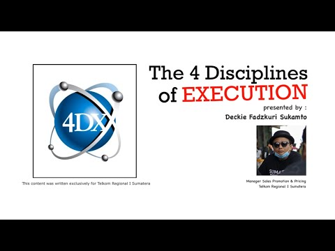 Pemahaman 4DX The 4 Disciplines of Execution - PART 1