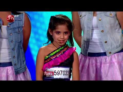 Martina Canisso sorprende cantando al ritmo de su ídola «Violetta» – TALENTO CHILENO 2014