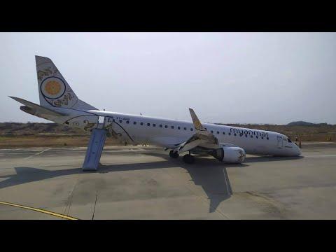 Myanmar: Landung ohne vorderes Fahrwerk - Glück im Un ...