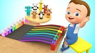 Video Little Baby Fun Play with Wooden Cartoon Animal Cars Learn Animals Colors Kids Children Educational MP3, 3GP, MP4, WEBM, AVI, FLV Januari 2018