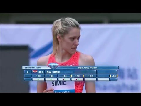 ŠIMIC Ana 1.92 Shanghai Diamond League 14.05.2016 ( women high jump )