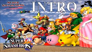 Super Smash Bros. Melee intro with SSB4 music