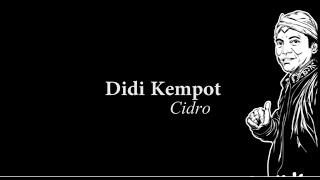Didi Kempot Cidro Lyric Video