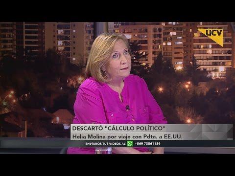"""video Helia Molina descartó """"cálculo político"""" en viaje con la Presidenta a cumbre de la ONU"""
