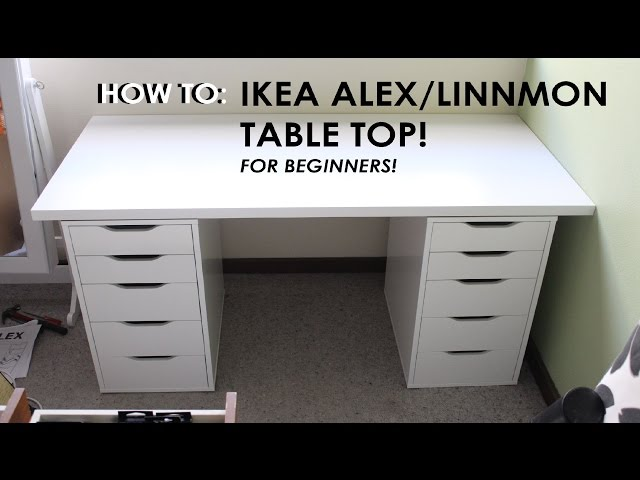 Linnmon Alex Desk Setup How To Set Up Ikea Alex Linnmon