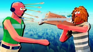 Automatic Crossbow to the Face! - Totally Accurate Battlegrounds! - TABG Gameplay