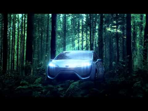 TOYOTA CONCEPT CAR - Here is the first look at the Toyota FCV-R in its natural environment. 'Life imitates nature' as the fuel cell concept vehicle literally mimics the photosynt...