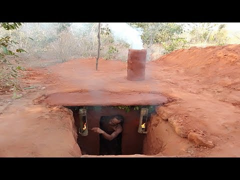Building secret underground swimming pool's house by digging cliff - Thời lượng: 18 phút.
