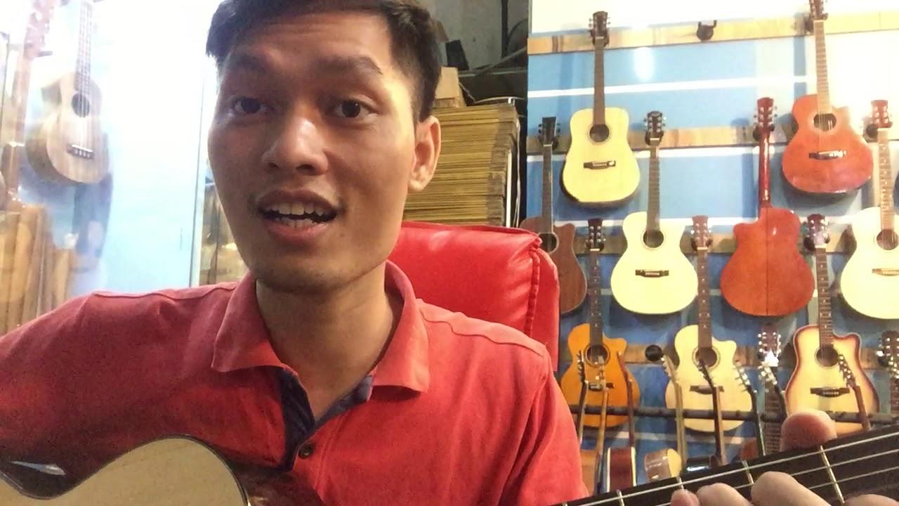 Guitar Acoustic thay Dây Nilong mềm cho bạn nào mới tập không đau tay. ET15gn 888,000 vnd