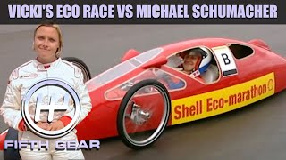 Vicki's Eco race with Michael Schumacher   Fifth Gear Classic by Fifth Gear