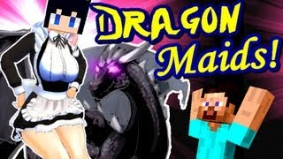 Minecraft MAID DRAGONS! Maids Ride Dragons Mod!