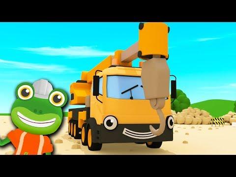 Caroline The Crane Song | Gecko's Garage | Kids Songs | Construction Trucks For Children