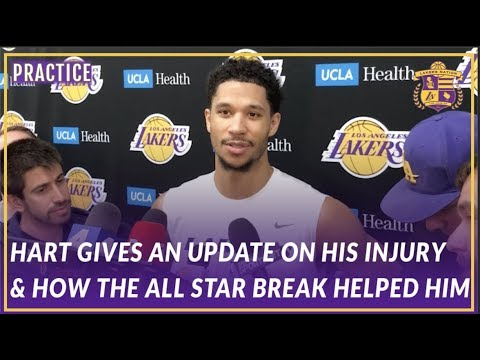 Video: Lakers Interview: Hart Talks About What He Did During the All Star Break & Gives an Injury Update