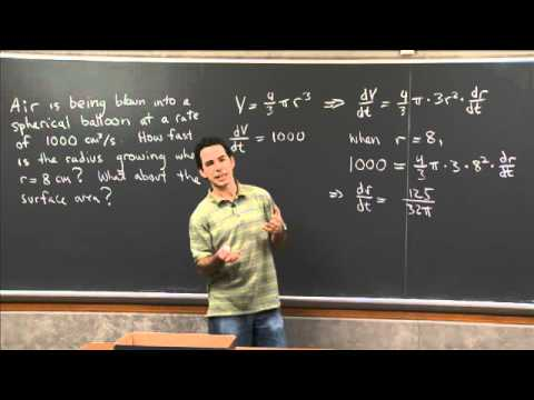 Related rates 1 | MIT 18.01SC Single Variable Calculus, Fall 2010