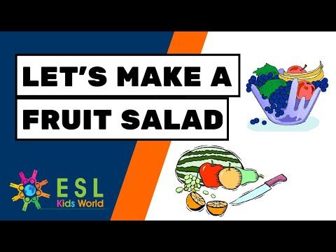 🥗Let's Make a Fruit Salad Story | How to Make a Fruit Salad