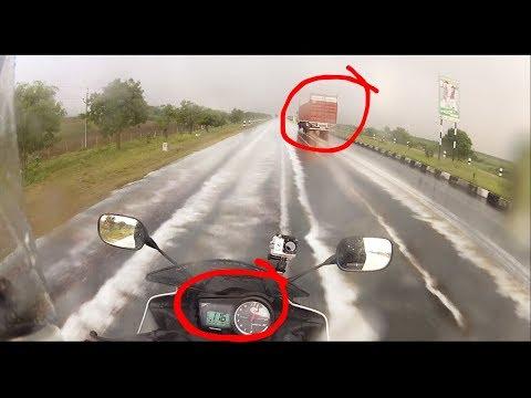 DANGER of Rain Riding   Hyderabad to Bangalore - Part 3